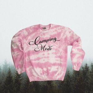 🛍HOST PICK🛍 Tie Dye Camping Mode Sweatshirt
